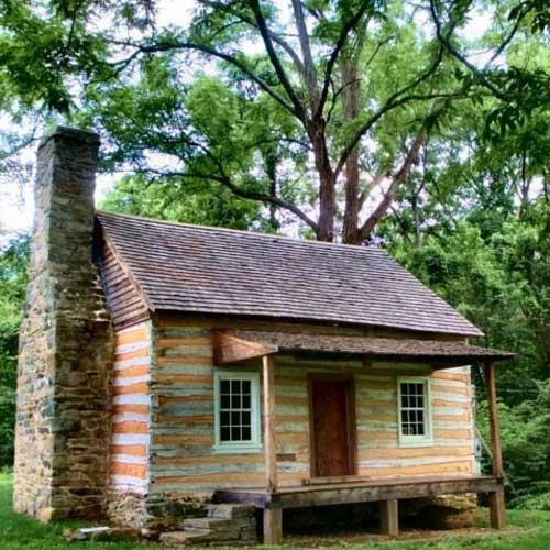 Bluemont log cabin